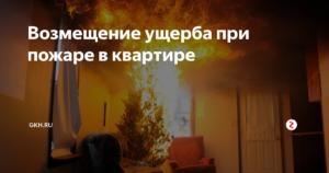 Возмещение ущерба по пожару