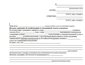 Заявление об отказе от алиментов образец