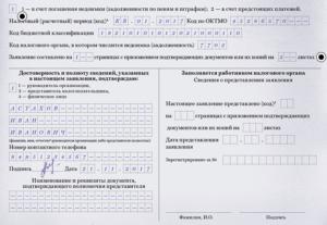 Наименование счета в заявлении на возврат налога что писать