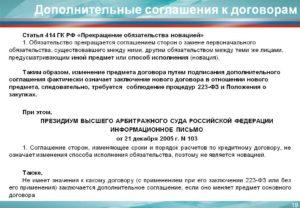 Можно ли делать дополнительное соглашениеик договору по 223 фз
