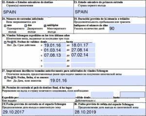 Предполагаемая дата выезда из шенгенской зоны мультивиза что писать