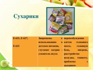Усилители вкуса и аромата е621 е627 е631