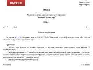Образец приказа на изменение плана закупок по 44 фз