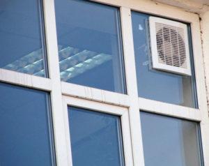 Принудительная вентиляция в стеклопакетах
