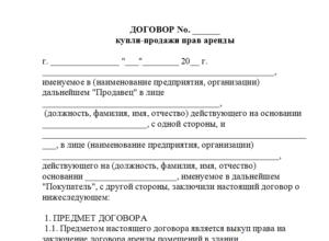 Образец договора купли продажи бизнеса между физическими лицами