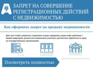Запрет на продажу квартиры в росреестре