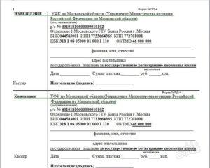Госпошлина за развод квитанция москва