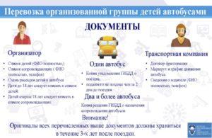 Документы необходимые для перевозки детей на автобусе
