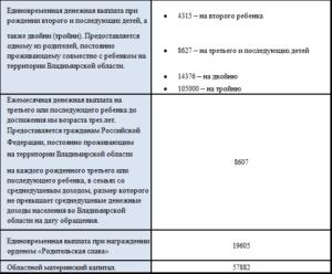 Выплаты на третьего ребёнка в 2020 году во владимирской области