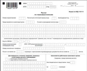 Бланки отчетности по страховым взносам со штрих кодом в налоговую
