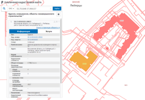 На кадастровой карте дом выделен серым