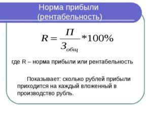Формула норма валовой прибыли