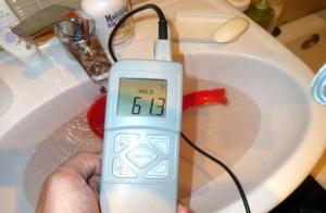 Как сделать экспертизу температуры горячей воды