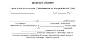 Договор агентский с водителем экспедитором образец