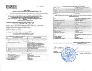 Госпошлина получение копии листа записи егрюл в ифнс
