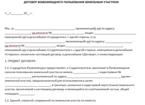 Договор передачи права пользования