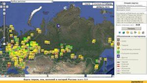 Зоны и тюрьмы на карте россии