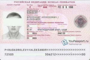Фейк серия и номер паспорта