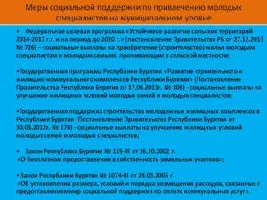 Государственные программы для молодых специалистов 2020