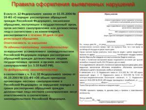 Образец заявления в муниципальные органы