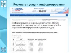 Где проверить очередь в детский сад новосибирск