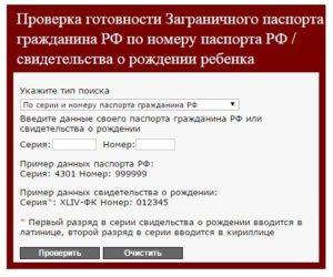 Проверить готовность загранпаспорта челябинск